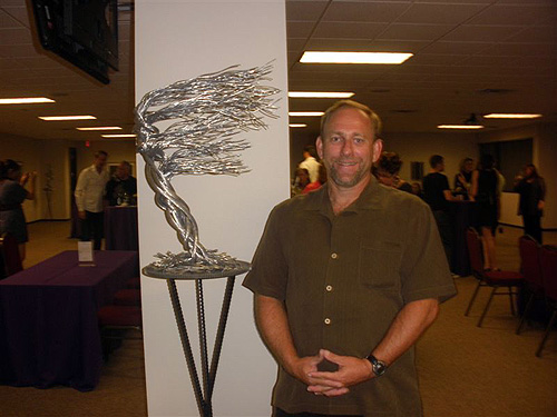 Barry_Ferich_poses_with_Heaven_aluminum