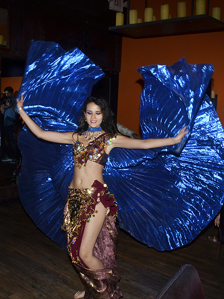 Belly Dancer performs at Origin India - Photo credit: Stephen Thorburn