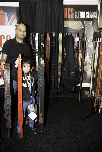 Family of custom Guitar Strap Makers