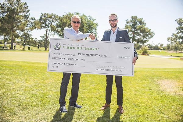 Larry Ruvo and Nick McCabe Check Presentation 2