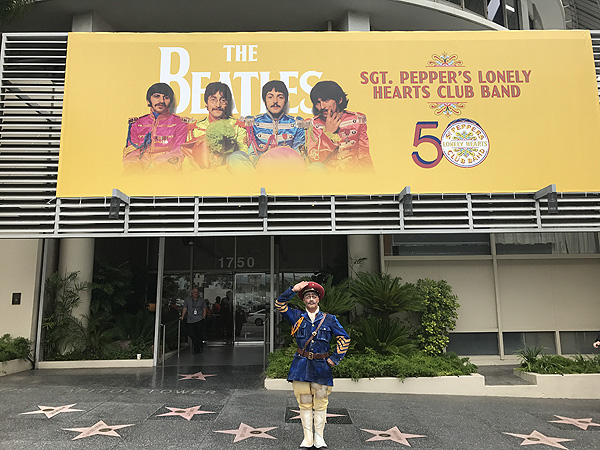 The Beatles LOVE By Cirque du Soleil Celebrates Pepper Day Atop Hollywoods Capitol Records 6.1.17 2
