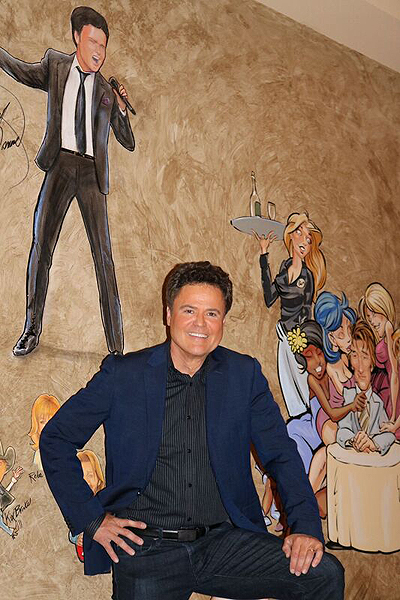 Donny Osmond Added to Famous Caricature Collage at The Palm Las Vegas 6.21.2017