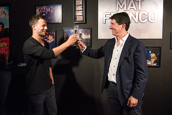 BASE Entertainment CEO Delivers Toast to Mat Franco at Mat Franco Theater 7.10.17 credit Mike KTony Tran Photography