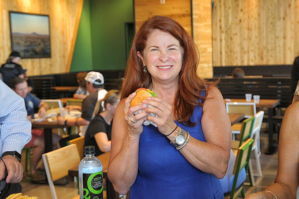 Henderson Mayor Debra March at the opening of Shake Shack - Photo courtesy of Shake Shack