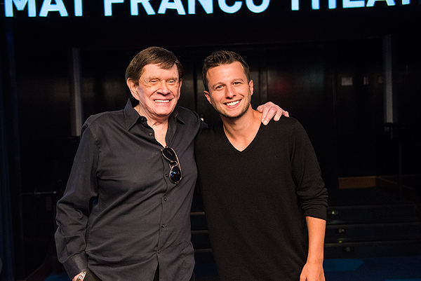 Magicians Johnny Thompson and Mat Franco at Mat Franco Theater Unveiling 7.10.17 credit Mike KTony Tran Photography