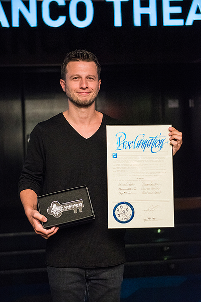 Mat Franco Unveils Namesake Theater Marquee at The LINQ Hotel Casino 7.10.17 credit Mike KirschbaumTony Tran Photography 2