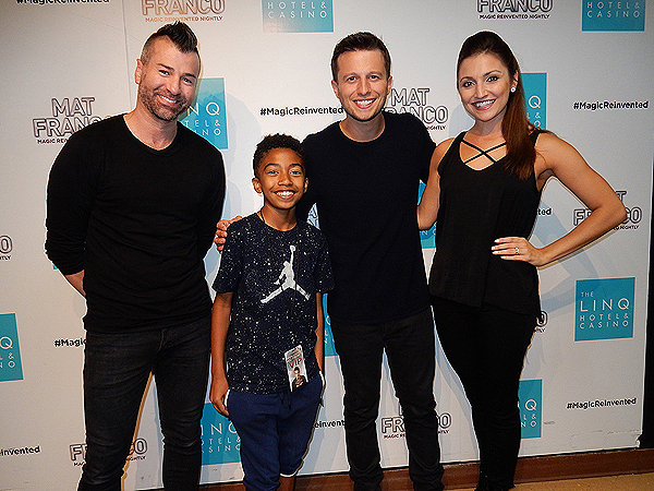 Miles Brown attends MAT FRANCO MAGIC REINVENTED NIGHTLY at The LINQ Hotel Casino 7.11.17 courtesy MAGIC REINVENTED NIGHTLY 1