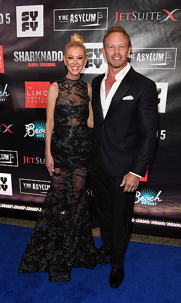 Tara Reid and Ian Ziering - Photo credit: Ethan Miller/Getty Images