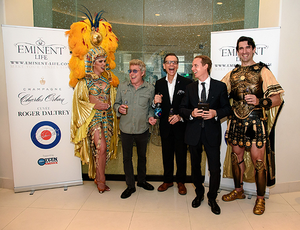 Roger Daltrey Champagne Launch at MR CHOW Credit Patrick Gray