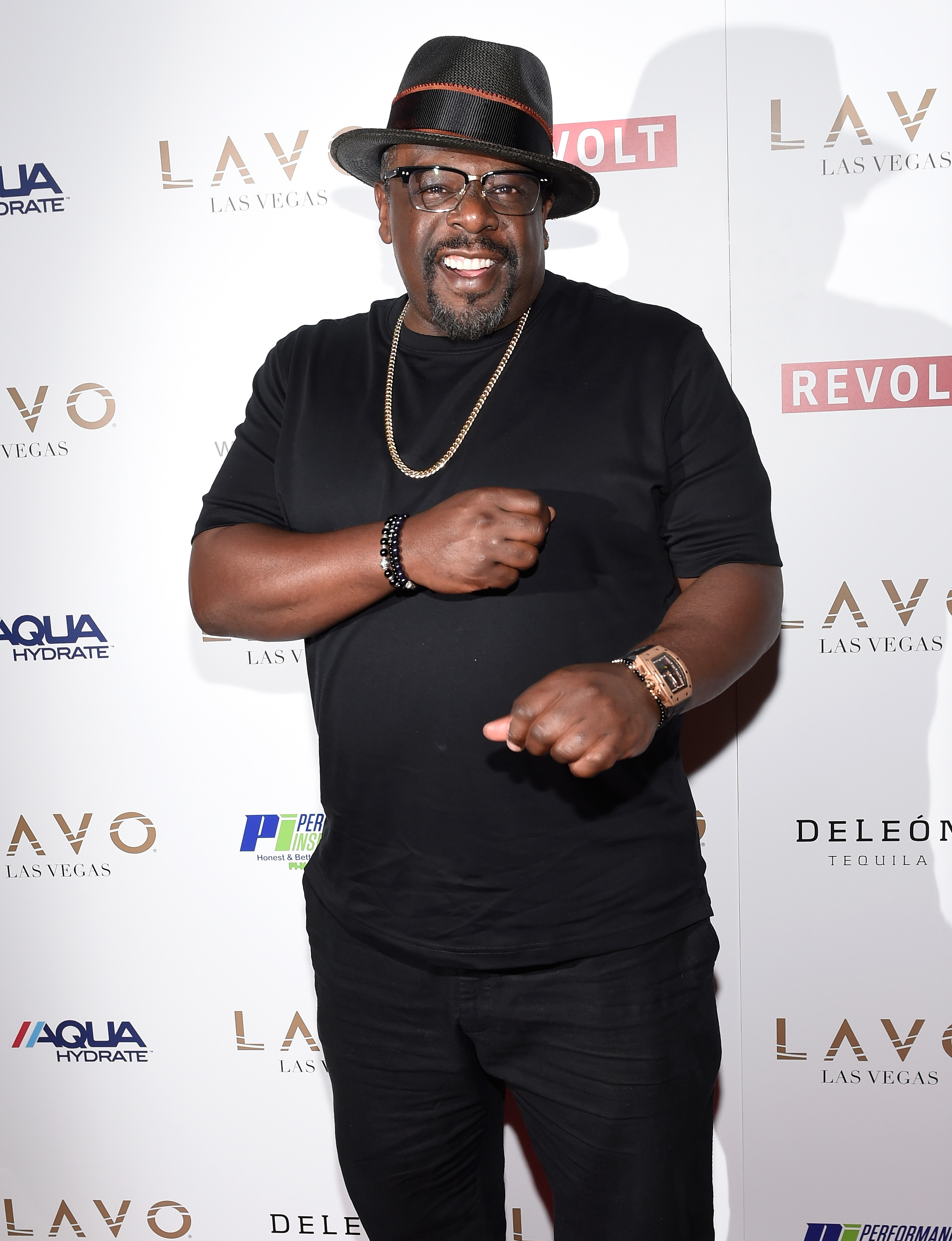 Cedric The Entertainer at Sean Diddy Combs Mark Wahlberg and Stephen Espinoza host Double or Nothing Welcome to Fight Weekend Kick Off Powered by CÎROC Vodka and AQUAhydrate at LAVO Las Vegas