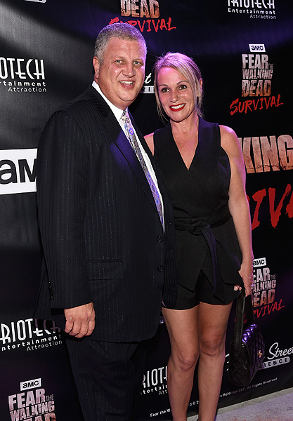 Derek and Nicole Stevens at the Grand Opening of Fear the Walking Dead Survival at FSE in Las Vegas credit Las Vegas News Bureau