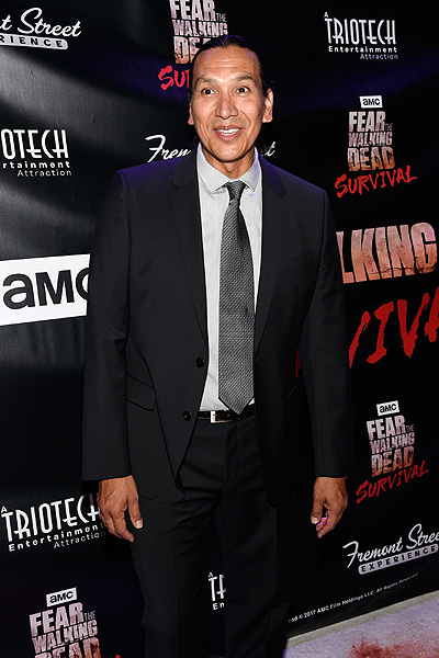 Michael Greyeyes at the Grand Opening of Fear the Walking Dead Survival at FSE in Las Vegas credit Las Vegas News Bureau