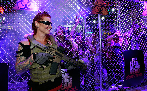 Military Personnel at the Grand Opening of Fear the Walking Dead Survival at FSE in Las Vegas credit Las Vegas News Bureau