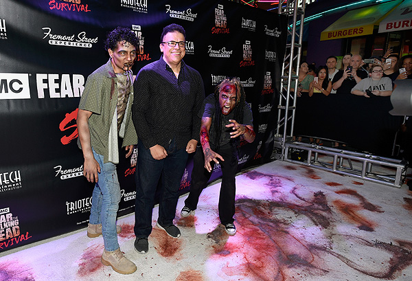 Triotech Founder Ernest Yale at Fear the Walking Dead Survival Grand Opening at FSE in Las Vegas credit Las Vegas News Bureau