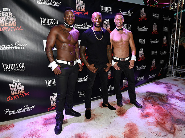 Tyson Beckford and Chippendales at Fear the Walking Dead Survival Grand Opening at FSE in Las Vegas credit Las Vegas News Bureau