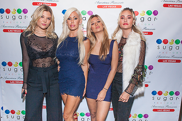 Shauna Sand and daughters strike a pose at Sugar Factory