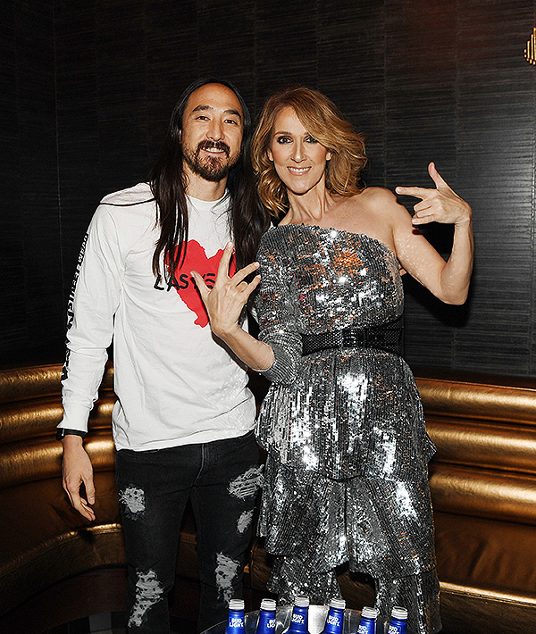 Celine Dion and Steve Aoki Photo Credit Denise Truscello