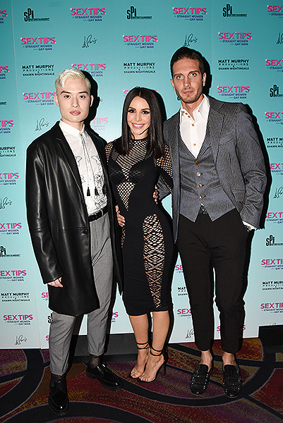Chester Lockhart Scheana Shay and Chris Hodgsen at Sex Tips for Straight Women from a Gay Man at Paris Las Vegas Thursday Jan. 11