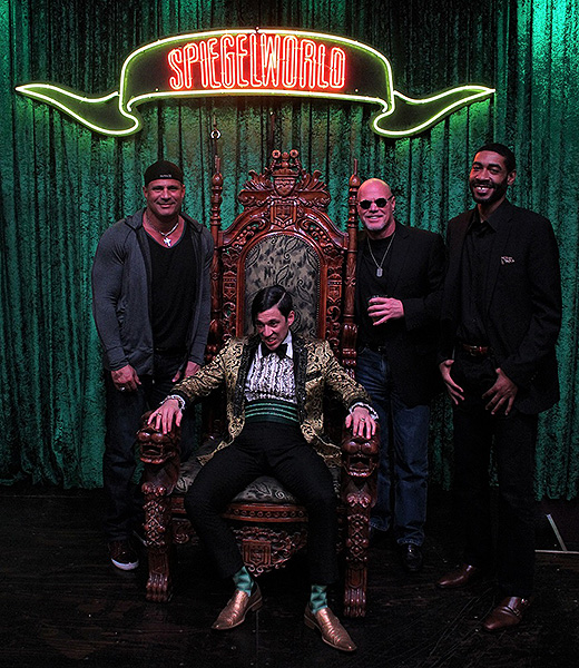 Jose Canseco Jim McMahon and Jimmy King Attend ABSINTHE at Caesars Palace 1.24.18 Credit JosephSanders Spiegelworld 2