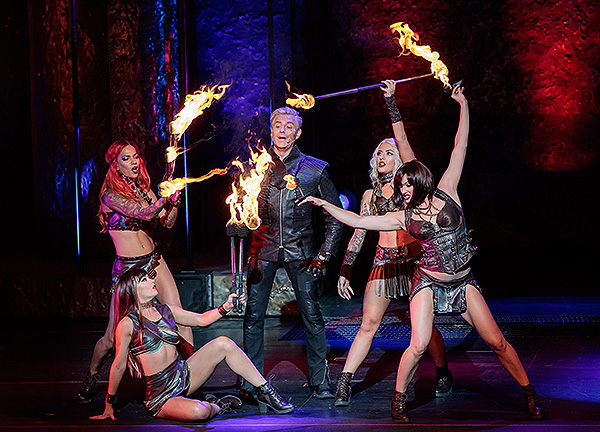 Joe Labero and The Fuel Girls Perform in INFERNO at Paris Las Vegas Credit Erik Kabik