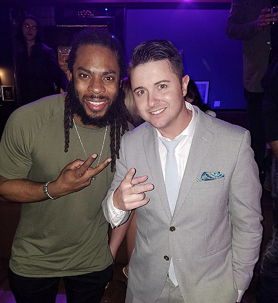 Richard Sherman parties at Hyde Bellagio in Las Vegas 2.6.18