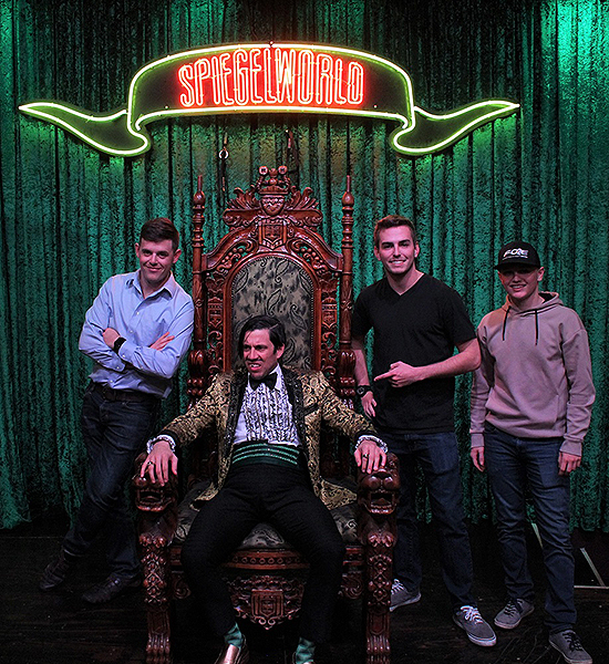 NASCAR Drivers Spencer Gallagher Justin Haley and Dalton Sargeant Attend ABSINTHE at Caesars Palace 2.28.18 Credit JosephSanders Spiegelworld