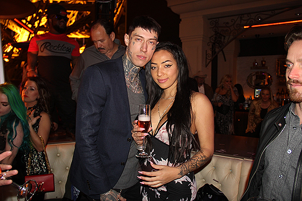 Trace Cyrus and Guest Chateau Nightclub