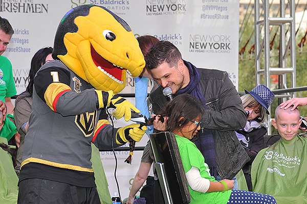 Chance and Mark Shunock of the Vegas Golden Knights at St. Baldricks Fundraiser at New York New York Hotel Casino 2018
