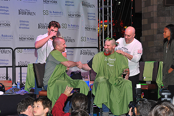 John McManus gets his head shaved by Moriah Jefferson St. Baldricks at New York New York Hotel Casino 18 177