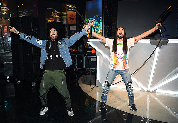 Steve Aoki at Madame Tussauds Las Vegas DJ Experience Launch 1