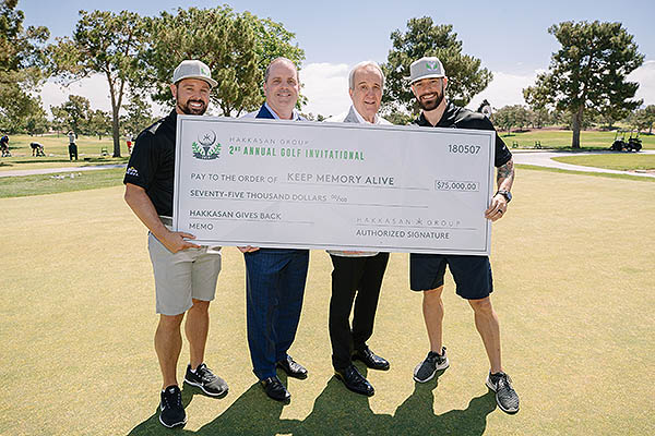 Check Presentation Joe Haro Kevin McCracken Larry Ruvo Rich Kenny Photo Cred. Joe Janet