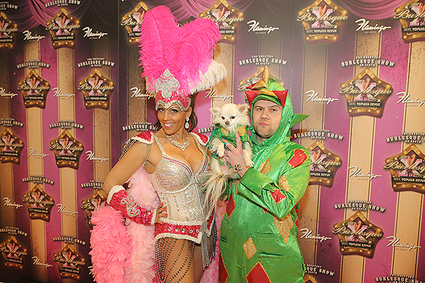 Jade Simone and Piff the Magic Dragon