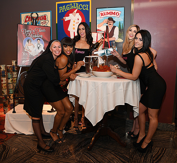 FANTASY at Tony n Tinas Wedding Opening Night Celebration at Buca di Beppo inside Ballys Las Vegas Friday June 15