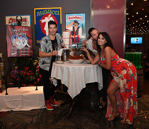 The cast of Sex Tips for Straight Women from a Gay Man at Tony n Tinas Wedding Opening Night Celebration at Buca di Beppo inside Ballys Las Vegas Friday June 15