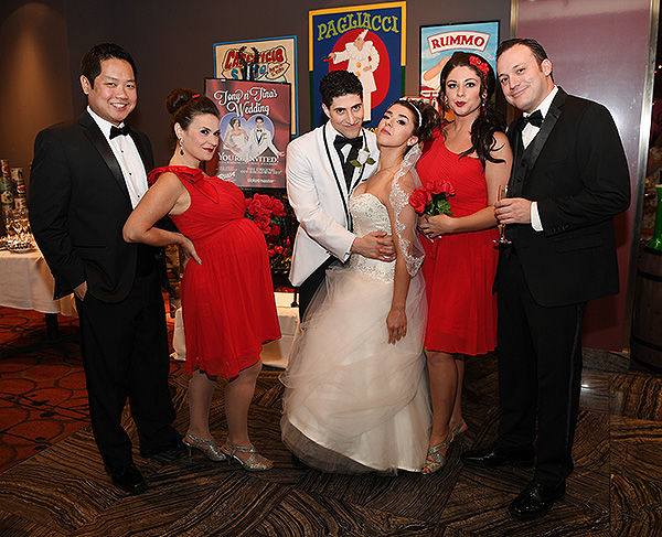 Cast of Tony n' Tina's Wedding - Photo courtesy of Bally' Las Vegas