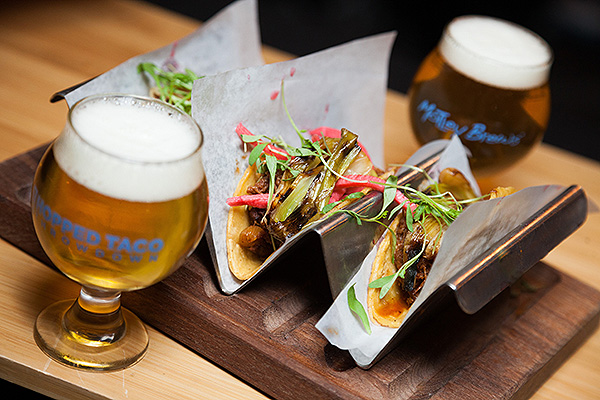 Hopped Taco Tacos and Beer
