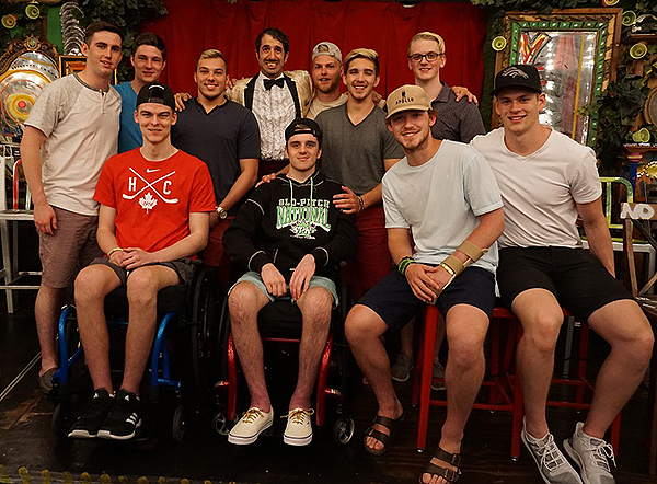 Humbolt Broncos Hockey Team at ABSINTHE 6.19.18 Credit Joseph Sanders Spiegelworld