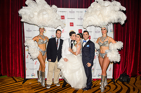 Cast members from Tony N Tinas wedding join in on the fun at Ribbon of Life Credit Brenton Ho