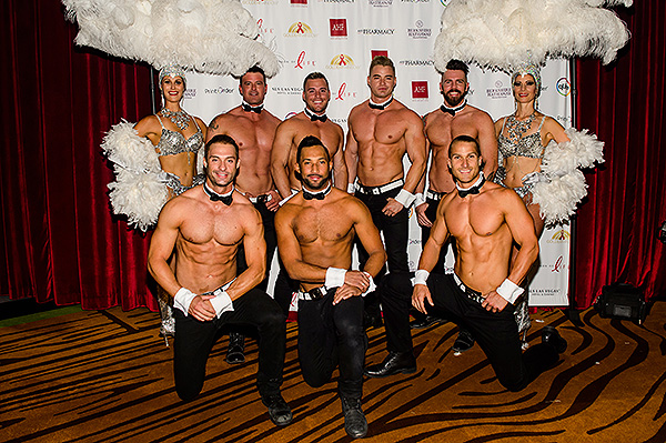 Cast members of Chippendales come support Golden Rainbow s Ribbon of Life Credit Brenton Ho