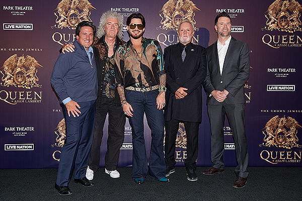Bill Hornbuckle Brian May Adam Lambert Roger Taylor Kurt Melien