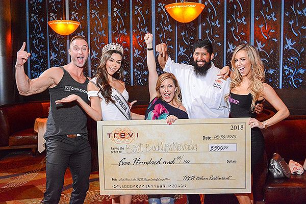 James Davis Carolina Urrea Courtney Perna Chef Jose Navarro and Mariah Rivera at TREVI Charity Pizza Cook Off