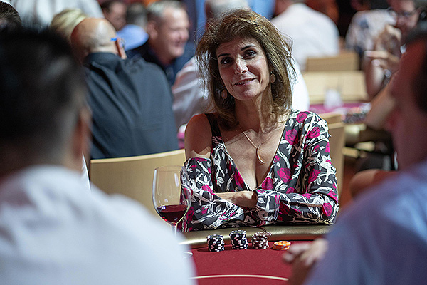 Camille Ruvo Doyle at the Keep Memory alive Texas Hold em charity Poker Tournament on Sept. 21