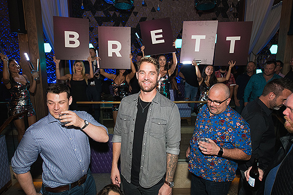 Chart topping Country Artist Brett Young Smiles in Celebration of Official Bachelor Party at OMNIA Nightclub Las Vegas on Sunday Sept. 30 Photo Credit Mike Kirschbaum