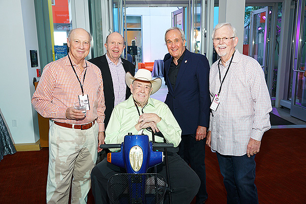 Jack Binion Larry Ruvo Doyle Texas Dolly Brunson and guests at the Keep Memory alive Texas Hold em charity Poker Tournament on Sept. 21
