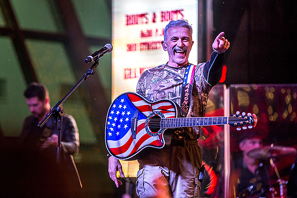 Aaron Tippin performs during 32nd Annual Downtown Hoedown at Fremont Street Experience 12.5.18