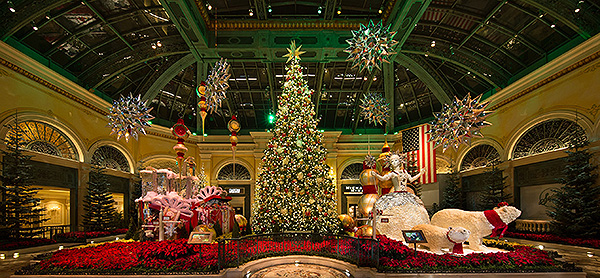 Bellagio Conservatory West Garden Holiday 2018