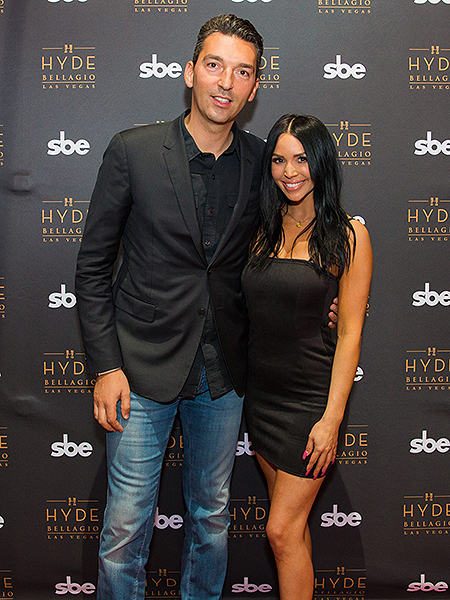 Sebastien Silvestri and Scheana Shay at Hyde Bellagio in Las Vegas 12.1.18