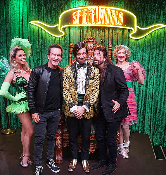 Jeff Probst and Dave Grohl attend ABSINTHE 12.27.18 Credit Joseph Sanders Spiegelworld Photography 1