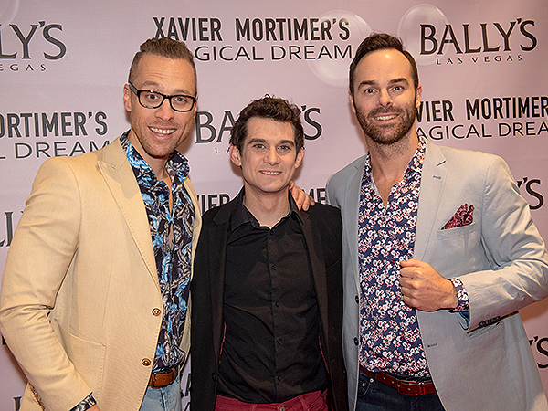 Xavier Mortimer and The Naked Magicians on the Red Carpet