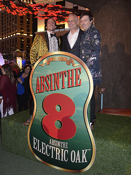 Ross Mollison, The Gazillionaire, Caesar's Entertainment President Gary Selesner Absinthe Electric Oak - Photo credit: Stephen Thorburn